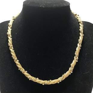 """Vintage Avon Goldtone 13"""" Choker Style Necklace"""