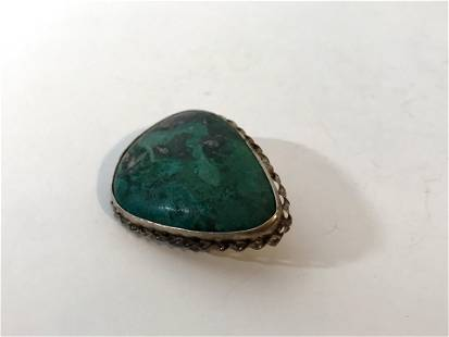 Vintage NAVAJO Sterling Silver TURQUOISE PIN/BROOCH
