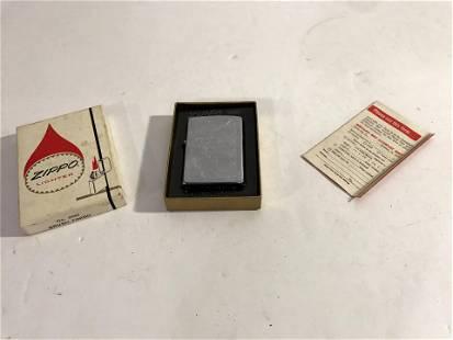 Vintage Zippo lighter, no 200, brush finish In Box