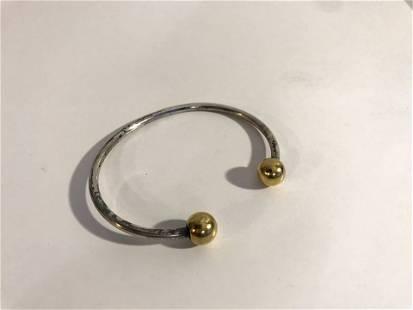Dual-toned Cuff Golfer's Bracelet Bangle Balance