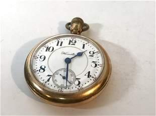 Antique Hamilton Pocket Watch Gold Filled Runs