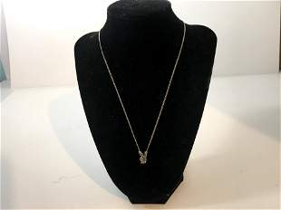"""18"""" Sterling Silver 925 Playboy Box Chain Necklace with"""