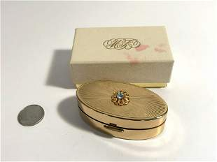 Vintage Max Factor Lipstick Compact w Mirror Hollywood
