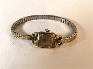 vintage 14k gold ladies omega Working watch