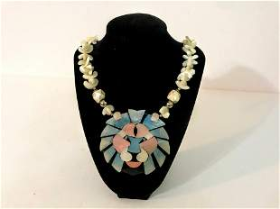 "Multi Gemstone Beaded Necklace. 20"". Large Mother of"