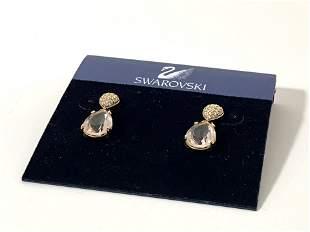 Vintage Genuine swarovski Crystal earrings New