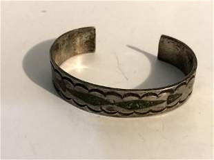 Vintage Old Pawn Zuni navaho Sterling Silver Turquoise