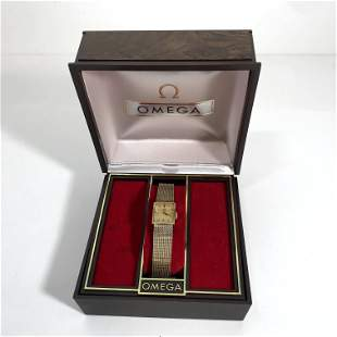 Womans Omega Watch 10k Gold Filled Watch Works