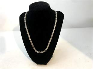 Heavy Vintage Sterling Silver Viking King's Chain