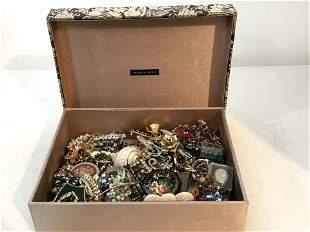 Vintage Victoria Box Filled With Over 60 Vintage