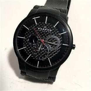 Skagen Men's Black Plated Titanium Watch