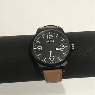 NEW Breda Brown Mens Watch 8144 Brown Leather Strap
