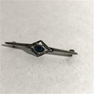 925 Sterling Silver - Vintage Blue Topaz & Marcasite