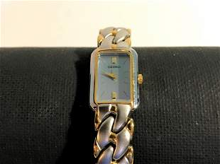 Vintage Seiko Womens Gold and Silver Tone Watch