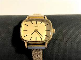 Omega Gold Plated Square Soft Style Metal Band