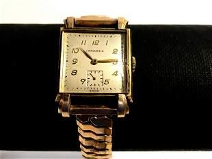 Longines Vintage Men's Watch 10k Gold Filled and Gold