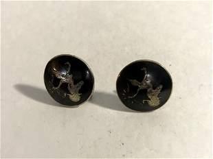Siam Sterling Silver Vtg. Screw-Back Earrings