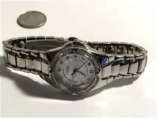 Caravelle by Bulova Ladies ,crystal bezel Watch Working