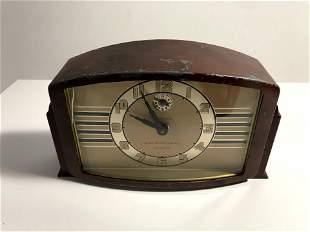 RARE Vintage 1940s LUX Clock Mfg. Co Alarm Clock -