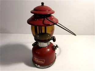 Rare Vintage Coleman Lantern 200A Single Mantle Cherry