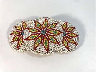 Vintage handmade beaded Native American hair clip