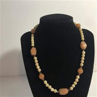 """Vintage Swarovski Pink Sterling Silver 18"""" Necklace"""