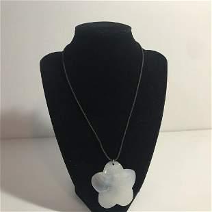 Vintage Swarovski Crystal Mother Of Pearl Necklace