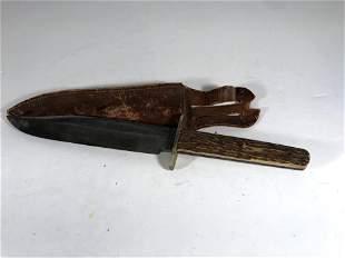 Antique Joseph Allen & Sons NON-XLL Stag Bowie Knife