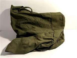 US WWII GI Duffel Bag ID'ed WW2 US Army Canvas Bag
