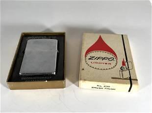 1950s Zippo cigarette lighter #200 #2517191 brushed