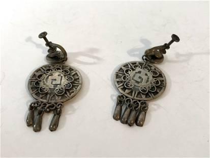 Vintage Mexico 925 Sterling screw on Earrings