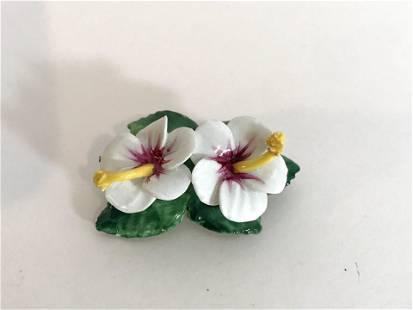 Vintage Artone Bone China Flower Brooch