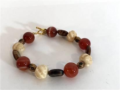 Vintage Gold tone beaded Bracelet