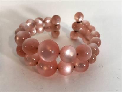 Vintage Soft Pink beaded Bracelet