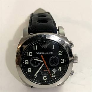 Emporio Armani Men's Classic Chronograph Black Dial