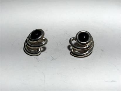 Rare Vintage Tiffany & Co. Sterling Silver Black Onyx