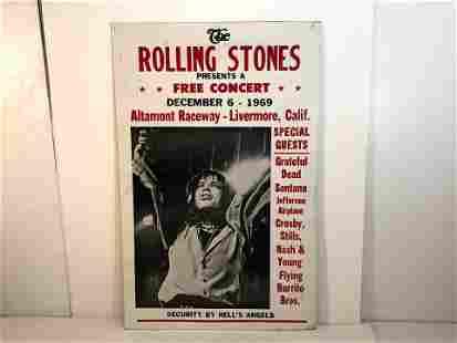 The Rolling Stones Concert Poster 1969 Grateful Dead
