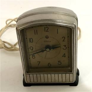 Vintage Telechron Alarm Clock #715, Art Deco Juke Box