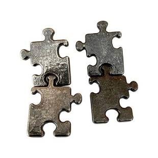 RARE SIGNED BILLY BOY FRANCE PUZZLELINK RUNWAY EARRINGS