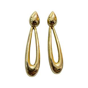 VINTAGE 80S GIVENCHY PARIS OVERSIZED CHANDLIER EARRINGS