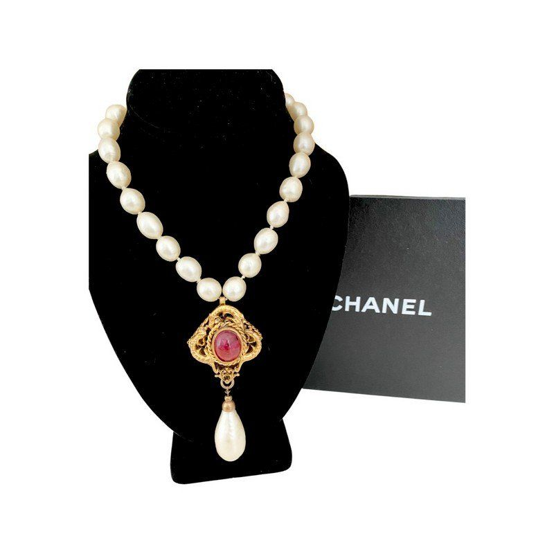 MUSEUM QUALITY CHANEL FRANCE GRIPOIX PEARL NECKLACE