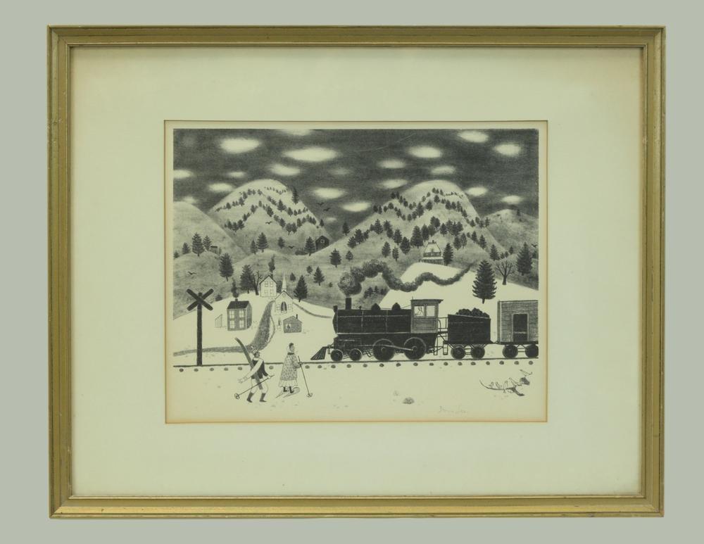 Doris Lee, Print, Afternoon Train, 20th century