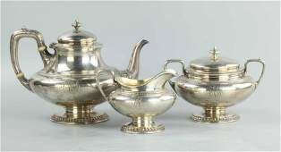 Sterling silver tea set three pieces