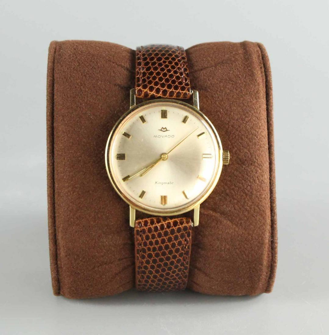 Movado 14k gold kingmatic men's wristwatch