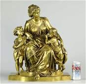 19th century bronze sculpture, signed