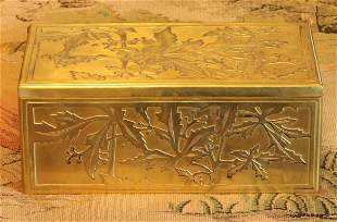 19th Century sterling silver gold plated jewelry box