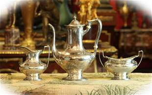 19 C three Gorham sterling silver coffee pieces