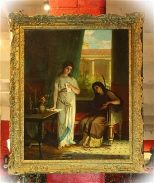 Giovanni Costa (Italian, 1833-1893), oil on