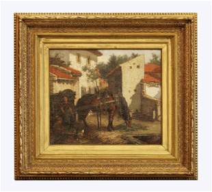 19th century oil on canvas, signed