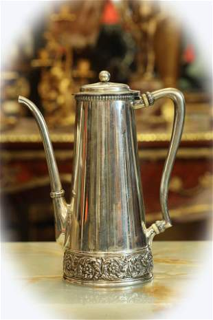 Antique Tiffany & Co sterling silver coffee pot,